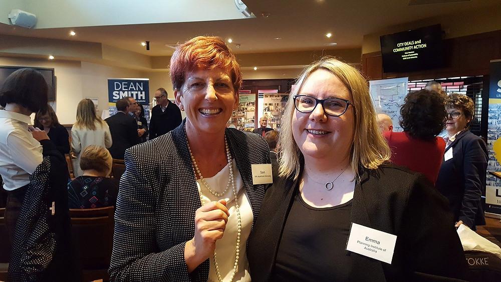 Sam Reece with PIA CEO Emma de Jager