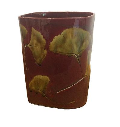 """Vivian Pyle  """"Gingko Vase"""" 7.25"""" High x 6""""wide"""