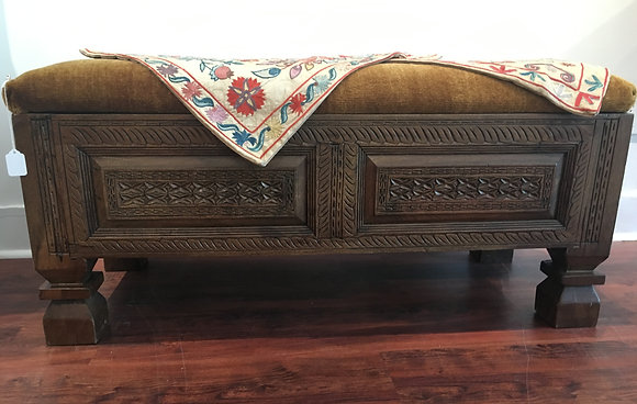 Antique Chest Handcarved in Afghanistan