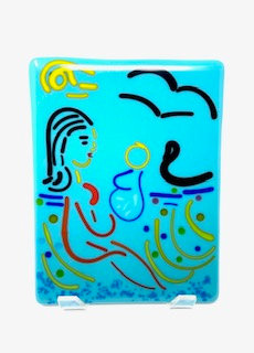 Amy Riessner - Mother and Child in Blue