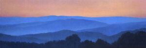 Mountaintops Summer Evening