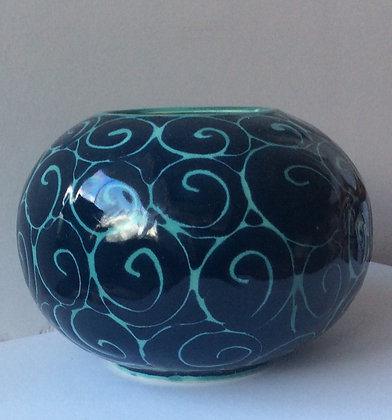 """Starry Night""  Round Vase by Vivian Pyle"