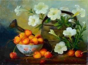 Petunias and Cherries