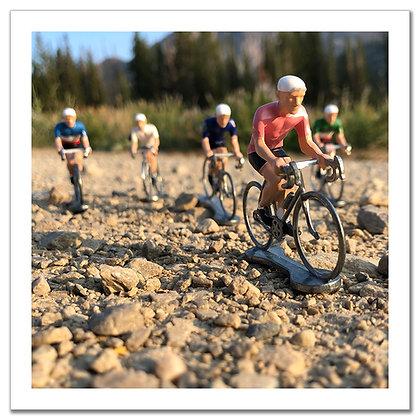 Bikers on Gravel 12x12