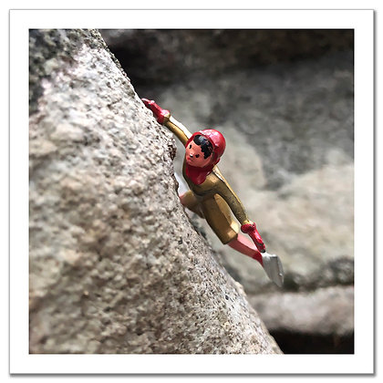 Hooey Wilks - Rock Climber - Framed