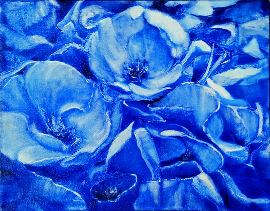 Blue and White- Roses