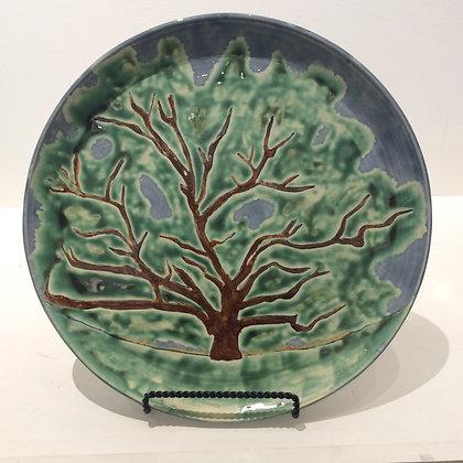 """Bedford Oak"" Ceramic Platter by Vivian Pyle"