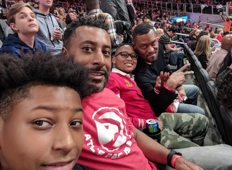 OTV sends 2 families to Atlanta Hawks game on 3/9/19