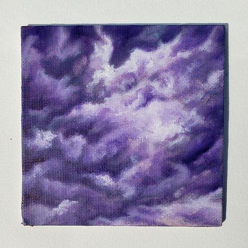 "Mini 4"" x 4"" Cloud Oil Painting"