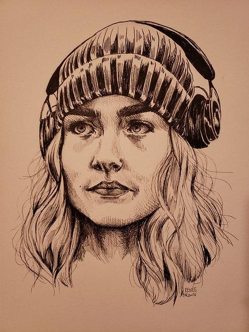 Original Impulse Ink Drawing