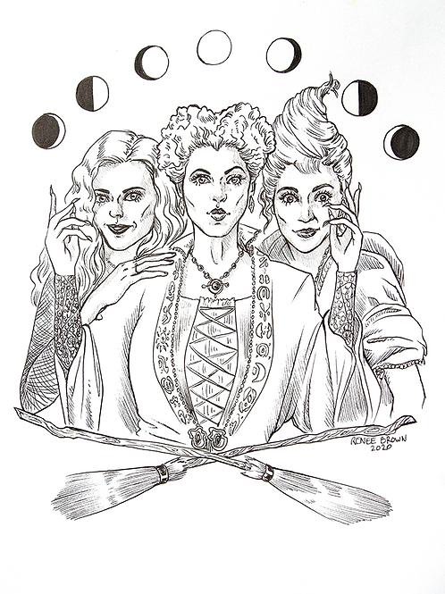 Inktober2020 Sanderson sisters Drawing