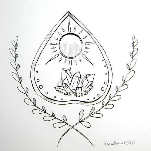 Inktober2020 Ouija Board Drawing