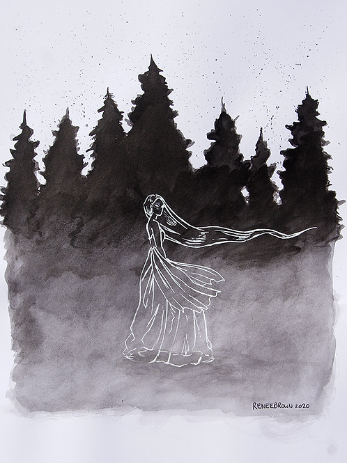 Inktober2020 Haunted Drawing