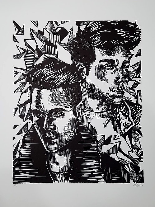 Limited Edition Dan Smith Relief Print