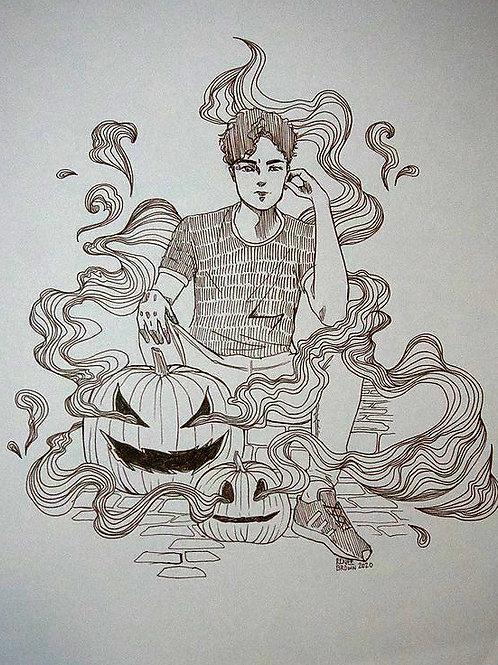Inktober2020 Jack-O-lantern Drawing