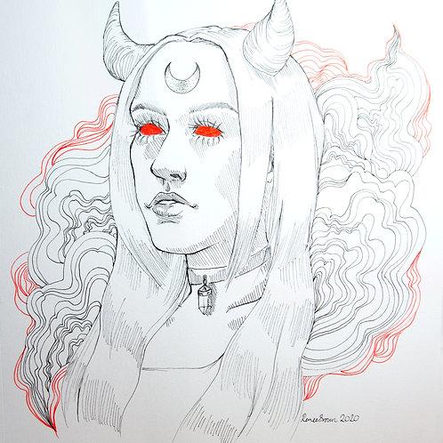 Inktober2020 Demon Drawing