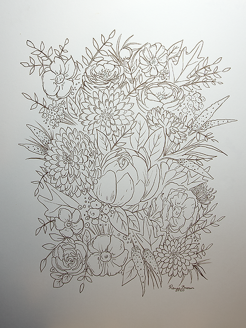 Inktober2020 Garden Drawing