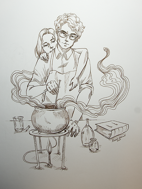 Inktober2020 Love Potion Drawing