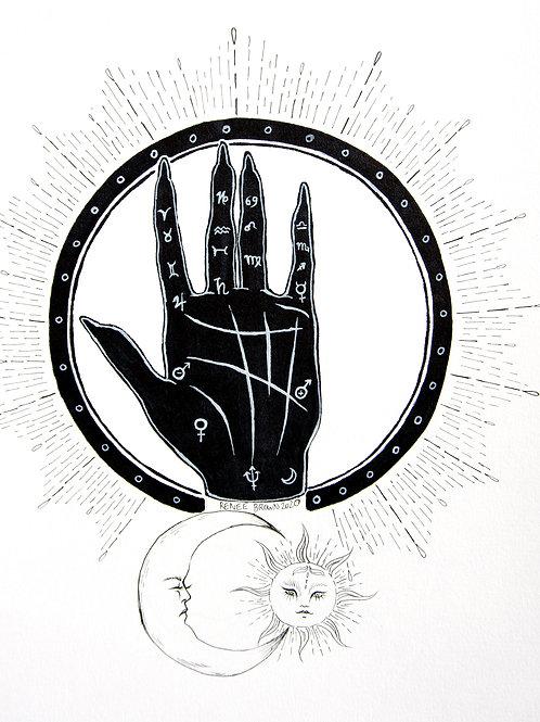Inktober2020 Palmistry Drawing