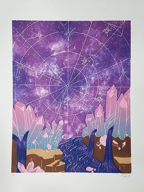 Limited Edition Astrological relief print