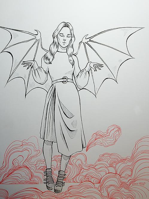Inktober2020 Bat Drawing