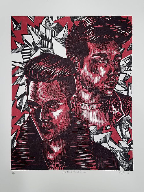 Limited Edition All this Bad Blood relief print