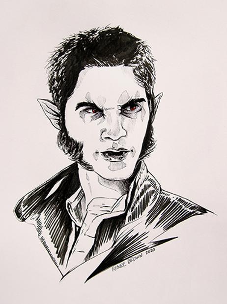 Inktober2020 Werewolf Drawing