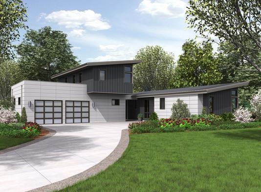 Modelo e planta de casa campo com 3 Dormitórios