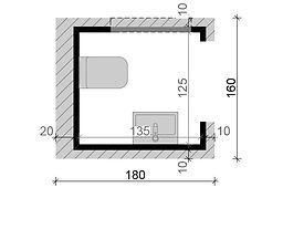 planta de banheiro pre fabricado em aco