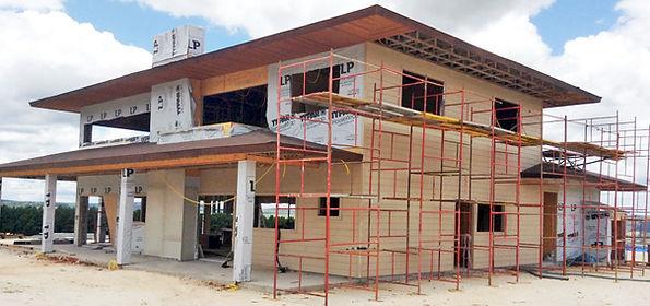 Casas pré fabricadas em aço exteno