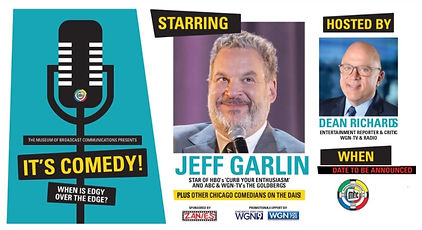 jeff garlin comedy museum broadcast communications chicago