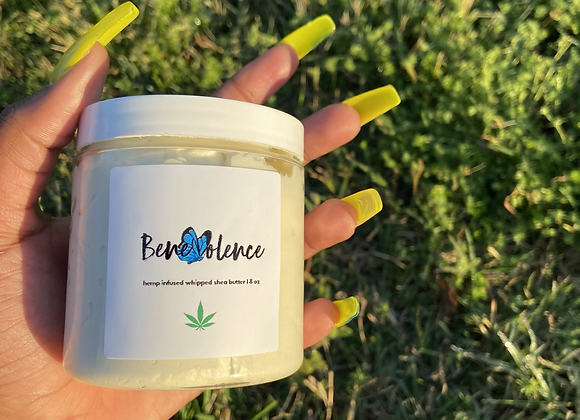 hemp infused whipped shea butter