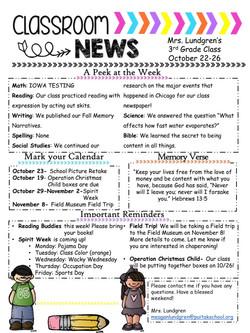 MeaganNewsletter2018October3rdWeek