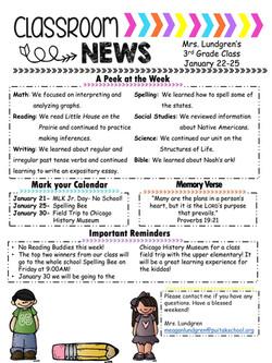 MeaganNewsletter2019January4thWeek