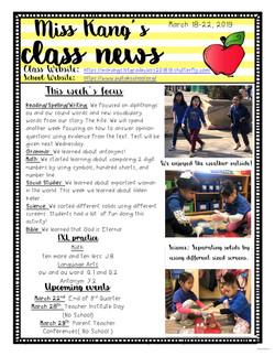 YvonneNewsletter2019March3rdWeek
