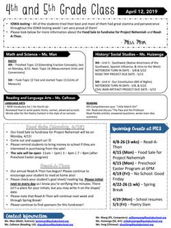 JanisNewsletter2019April2ndWeek