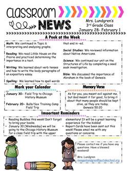 MeaganNewsletter2019January5thWeek