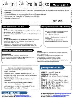 JanisNewsletter2019March3rdWeek