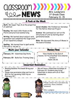 MeaganNewsletter2019February2ndWeek