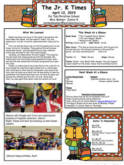CarmenNewsletter2019April2ndWeek