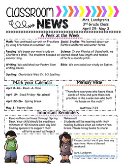 MeaganNewsletter2019April3rdWeek