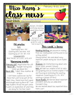 YvonneNewsletter2019February3rdWeek