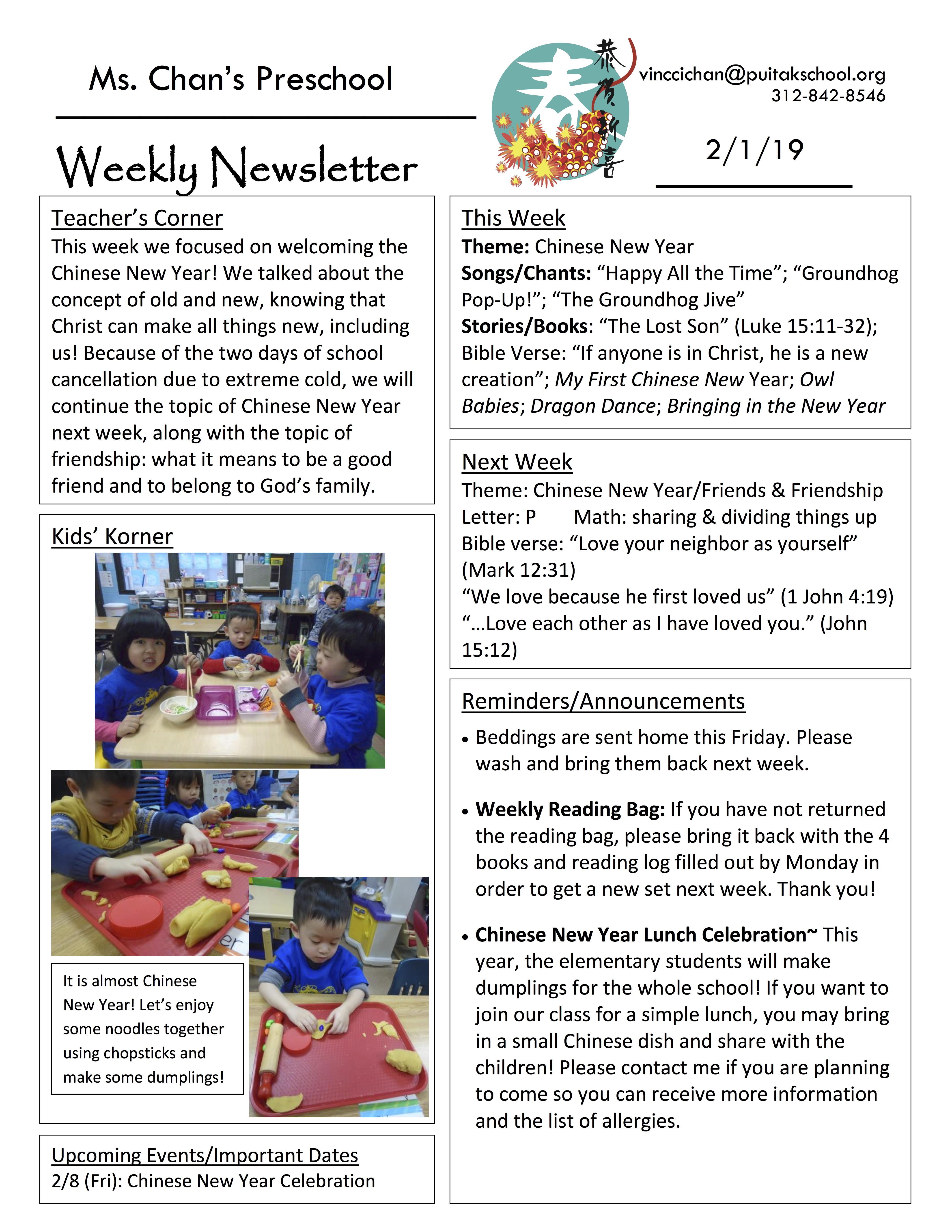 VincciNewsletter2019February1stWeek