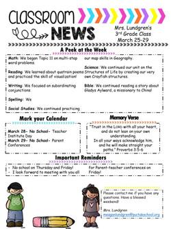 MeaganNewsletter2019March3rdWeek