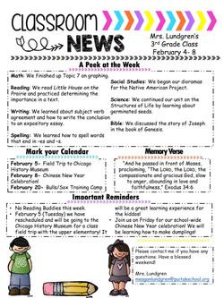 MeaganNewsletter2019Feb1stWeek