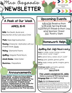AngelaNewsletter2019April3rdWeek