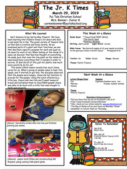 CarmenNewsletter2019March4thWeek