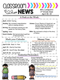 MeaganNewsletter2019April2stWeek