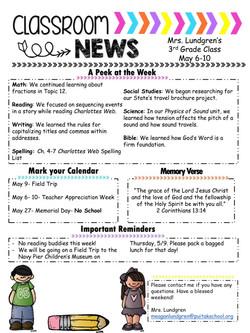 MeaganNewsletter2019May1stWeek