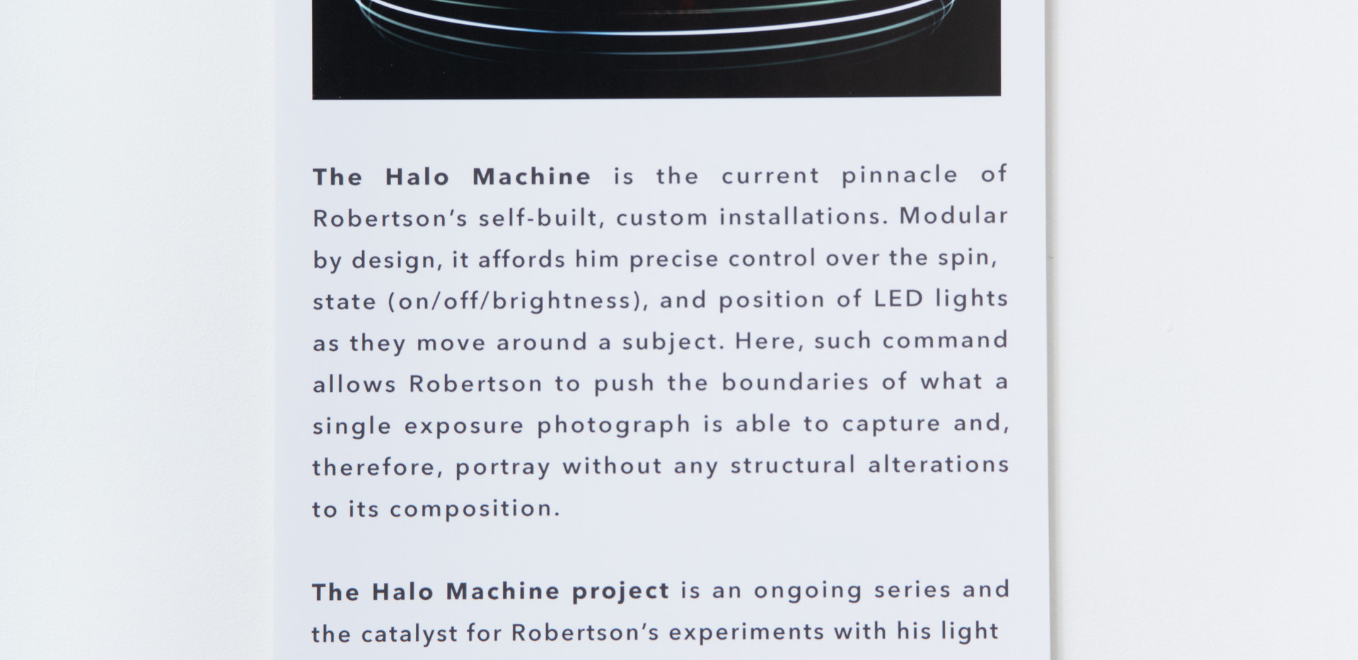The Halo Machine